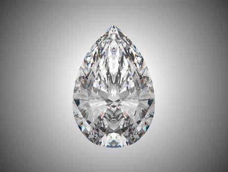 pietre preziose: Pera grande diamante taglio su sfondo grigio