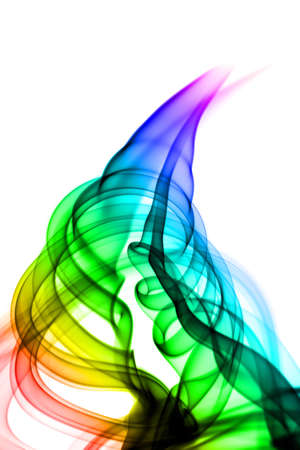 Magic Abstraction. Smoke swirl over the white background photo