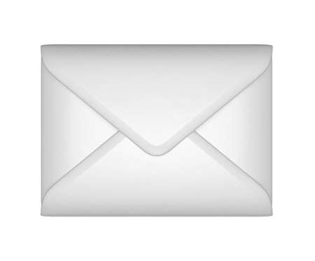 sealed: Mail and post - White sealed envelope isolated over white Stock Photo