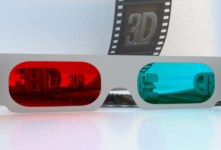 3dtv: See through 3D glasses - abstract film with symbols