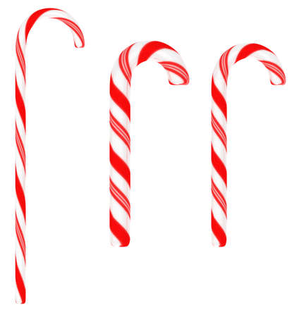 candycane: Festive Candy canes isolated on white background