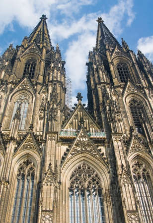 Koelner Dom (Cologne Cathedral) over blue sky in Koelne (Cologne) photo