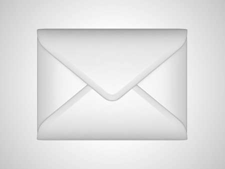 EMail and post: White sealed envelope over grey background photo
