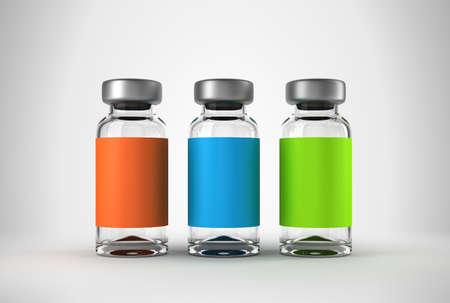 medycyna: Trzy ampules lekarza z tłem światła studyjny