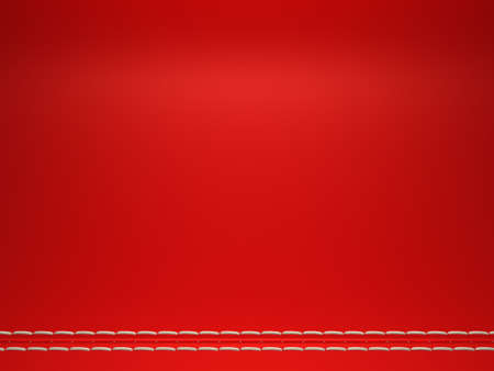 Red horizontal stitched leather background. Large resolution Stock Photo - 9065804