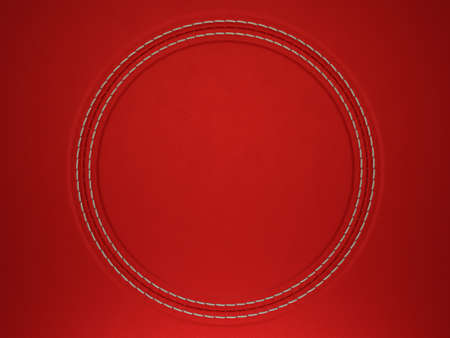 Red stitched circle shape on leather background. Large resolution Stock Photo - 9065815
