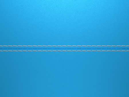 Blue horizontal stitched leather background. Large resolution Stock Photo - 9229971