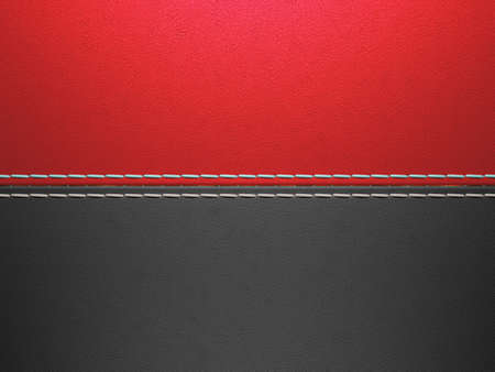 Red and black horizontal stitched leather background. Large resolution Stock Photo - 9229974