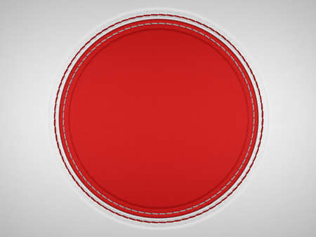 Red and grey stitched circle shape on leather background. Large resolution Stock Photo - 9229962