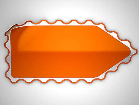 hamous: Orange hamous sticker or label over grey spot light background