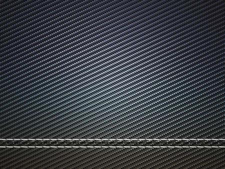 Horizontaal gestikte koolstofvezel. Nuttig als textuur of achtergrond