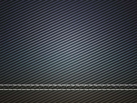 Horizontally Stitched carbon fiber. Useful as texture or background Stock Photo