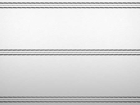 Light grey horizontal stitched leather background. Large resolution photo