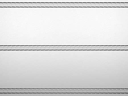 stitches: Light grey horizontal stitched leather background. Large resolution