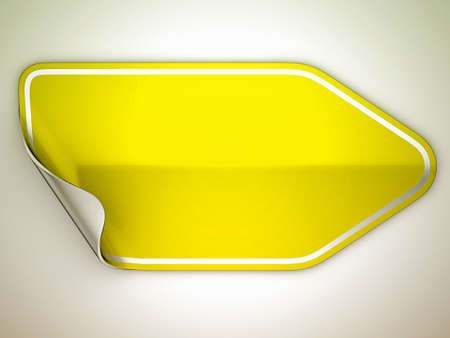 hamous: Yellow hamous sticker or label over grey spot light background
