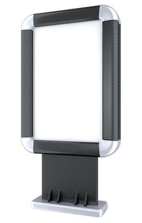 Black Carbon fiber lightbox on stand isolated on the white background Stock Photo - 9426065