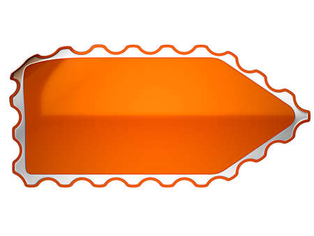 hamous: Orange hamous sticker or label over white background