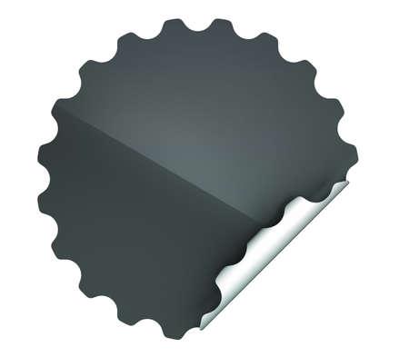 hamous: Black round hamous sticker or label over white background