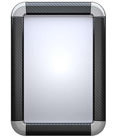 白い背景で隔離炭素繊維ライト ボックス