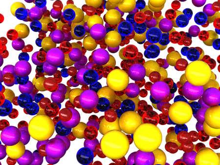 Many colorful balls isolated over white background photo