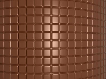Bent chocolate bar. Useful as confectionery background photo