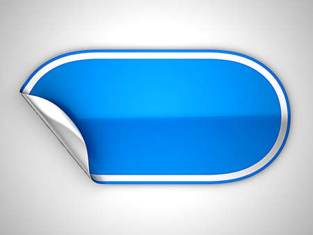 hamous: Blue rounded hamous sticker or label over grey spot light background Stock Photo