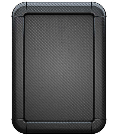 Carbon fiber advertisement lightbox isolated on the white background Stock Photo