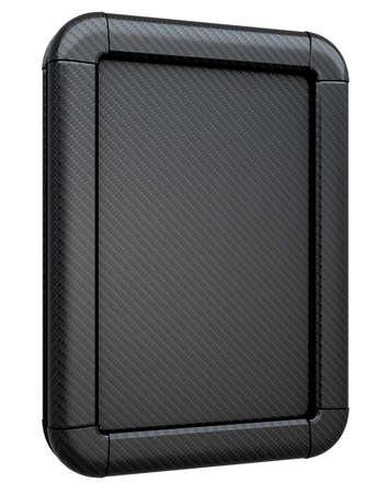 lightbox: Carbon fiber advertising lightbox isolated on the white background