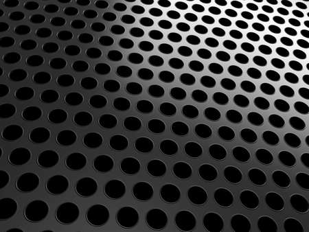 speaker grill: Close-up of black grill over black background