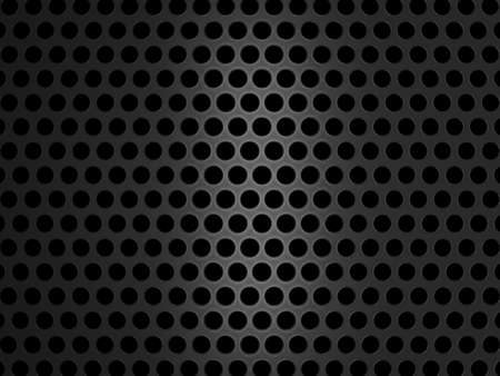 speaker grill: Metallic grill texture on black background. Large resolution