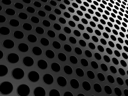 Close-up of black aluminum grill over black background Stock Photo - 9674154