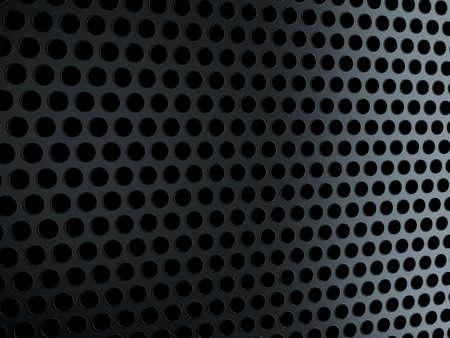 speaker grille pattern: Metal black grill over black. Useful as background