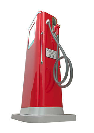 Red fuel pump isolated over white background. Bottom side view Stock Photo - 9674113