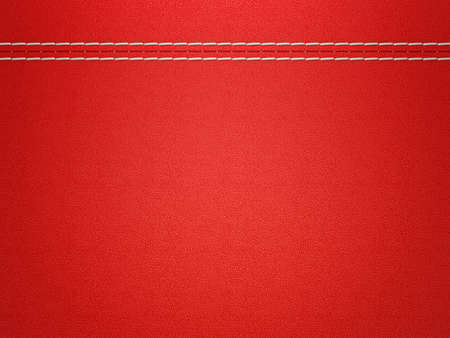 stitched: Stitched red leather background. Large resolution