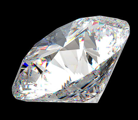ruby stone: Precious gem: large diamond over black background
