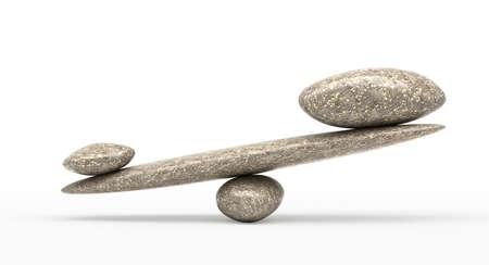 大小の石と意義: 小石安定性スケールします。