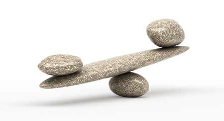 何か Weighty: 小石の安定性の変更に伴って大きく、小さい石