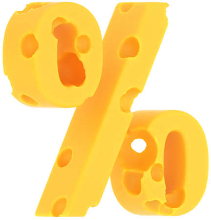 pct: Cheeze font percent symbol isolated over white background