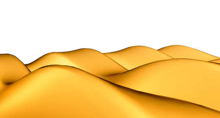 sandhills: Golden sandhills or dunes isolated over white background Stock Photo