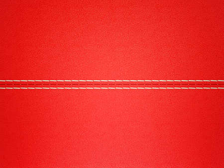 Red stitched leather background. Large resolution. Useful as texture