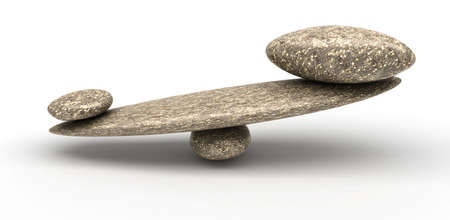 forcemeter: Cobblestone stability scales with large and small stones over white