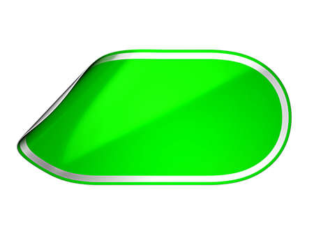 hamose: Green rounded hamous sticker or label over white background Stock Photo