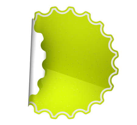 hamous: Green spotted sticker or label over white background Stock Photo