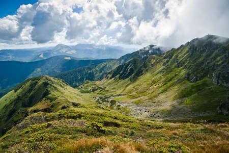 Mountains: Carpathians on the border of Ukraine and Romania. Large resolution