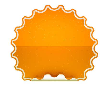 hamose: Orange spotted hamous sticker or label over white background