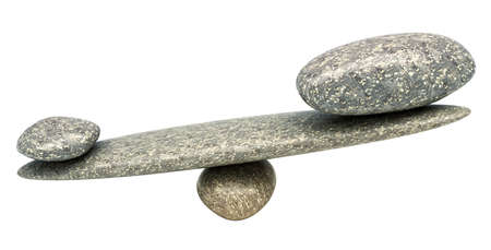 ponderous: Pebble stability scales: some Weighty thing. Isolated over white