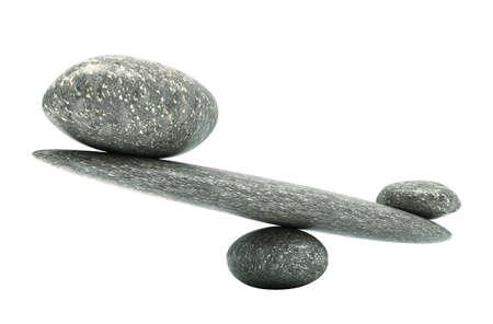 実質的な物: 大小の石と小石の安定性スケール