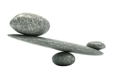 Substantial thing: Pebble stability scales with large and small stones Stock Photo - 11548228