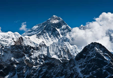 Everest Mountain Peak - the top of the world (8848 m) photo