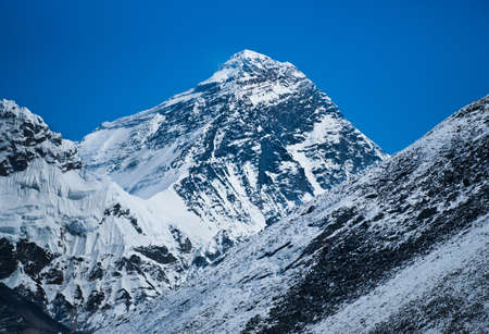 alpinism: Everest: highest mountain in the world (8848 m) Stock Photo